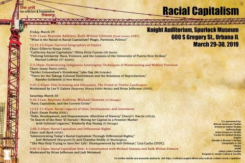 Flyer for the Racial Capitalism Symposium